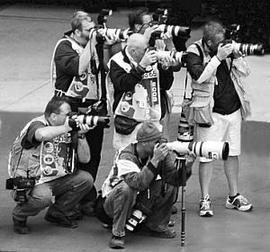 photojournalist working