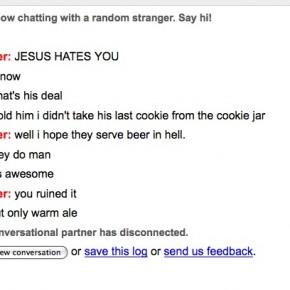 Jesus hates you?