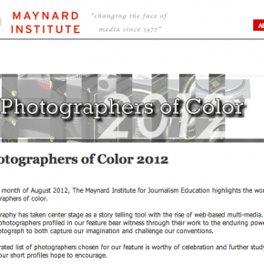 Thanks to Maynard Institute for recognizing my work